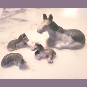 Antique horse figurines